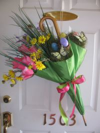 Spring/Easter Front Door Decor | floral | Pinterest ...