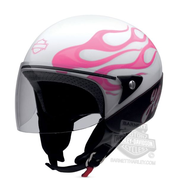 Harley Davidson Helmets Women Pink With Flames 97248