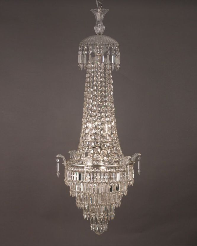 Stunning Waterfall And Bag Crystal Chandelier