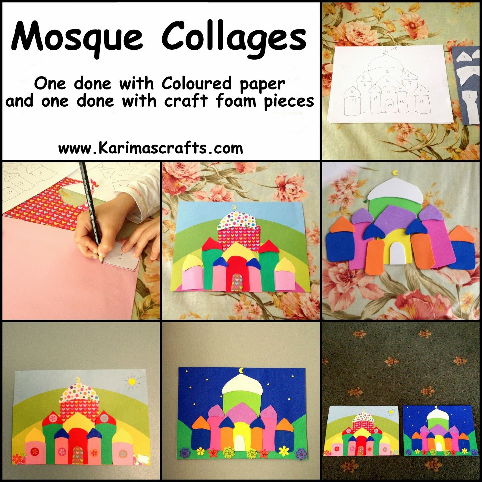 Karima S Crafts Mosque Collage