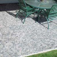 Stone Grey Mosaic Tile   Pebble tiles and Grey mosaic tiles