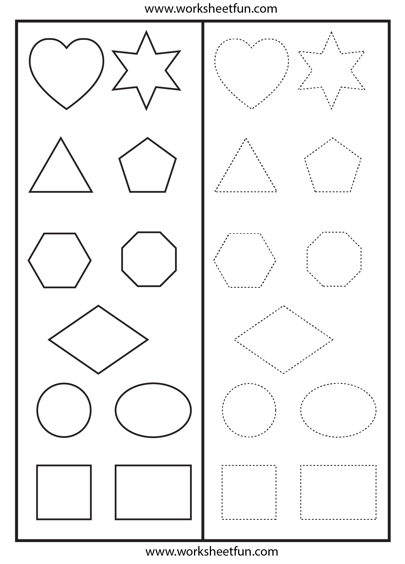 Shapes Tracing Worksheet