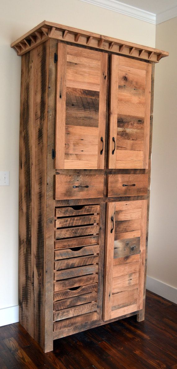 Rustic Pantry Cabinet