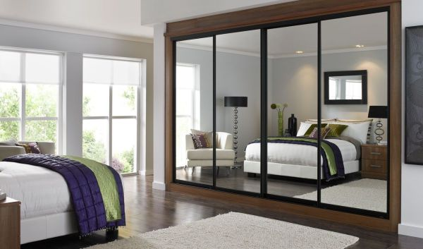 sliding bedroom closet door mirror Mirror Sliding Closet Doors Inspired | Condo Bedroom