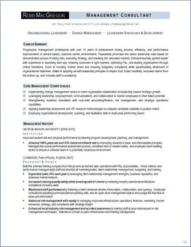 Organizational Leadership Resume Page 1 Resumes Pinterest