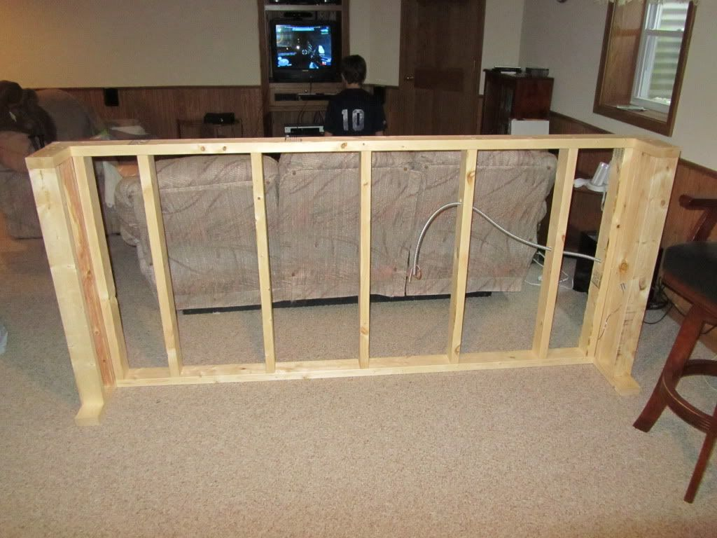 how to make a sofa table top lane cameron double reclining reviews bar idea dale will build for basement