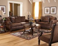 Cozy Living Room Furniture With Traditional Leather ...