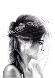 drawing girl beautiful fliers