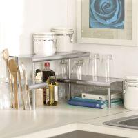 Marimac Deluxe Two-Tier Kitchen Counter Corner Shelves in ...