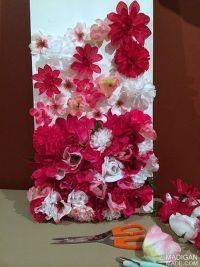 how to make silk flower wall art | diy home decor ...