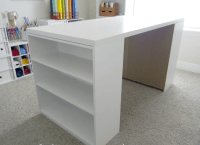 How To Make a Custom Craft Table | Ikea hackers, Craft and ...