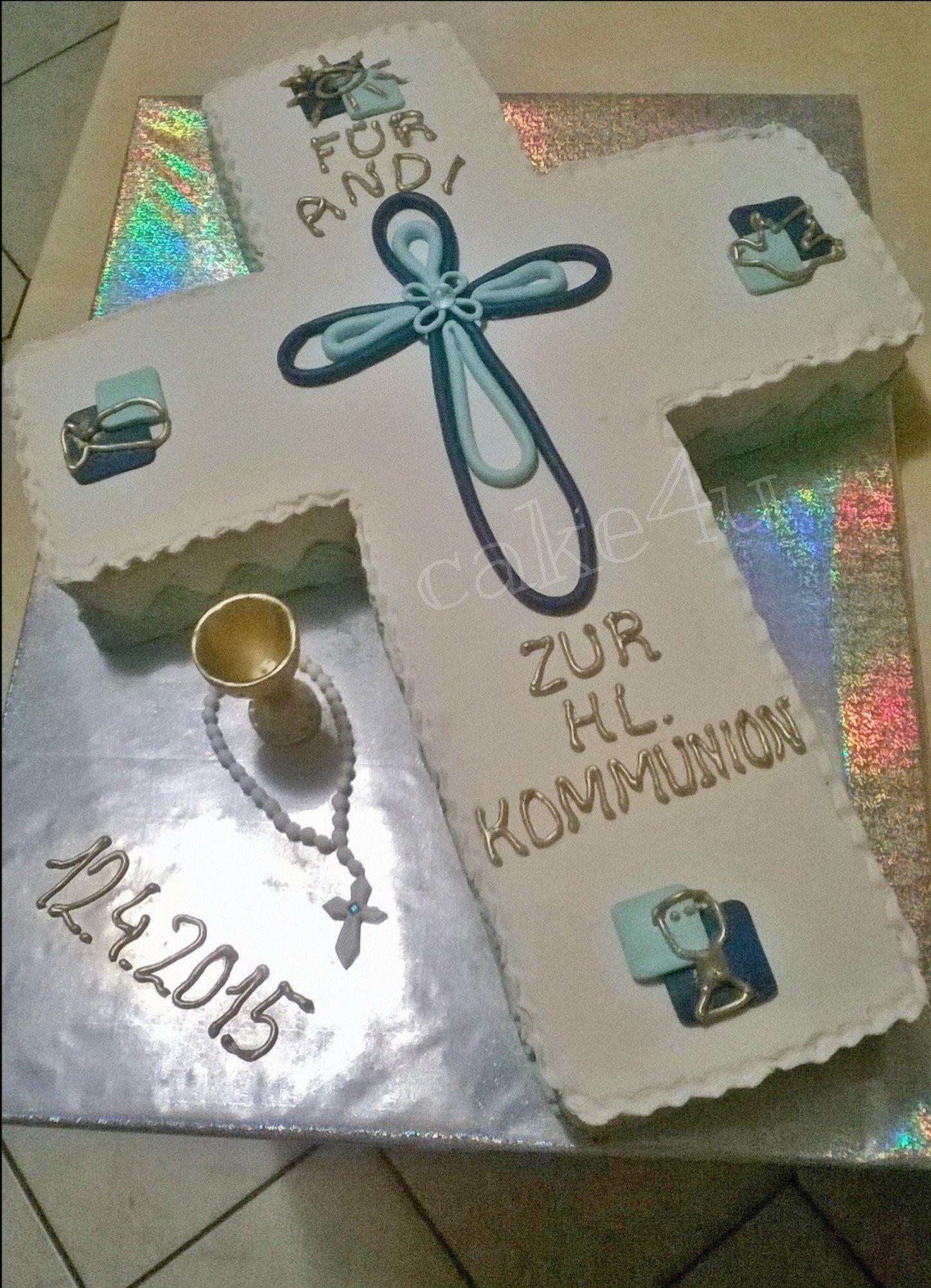 Kommunion Torte Marzipan eingedeckt und dekoriert  Sonstige Torten  Pinterest  Kommunion