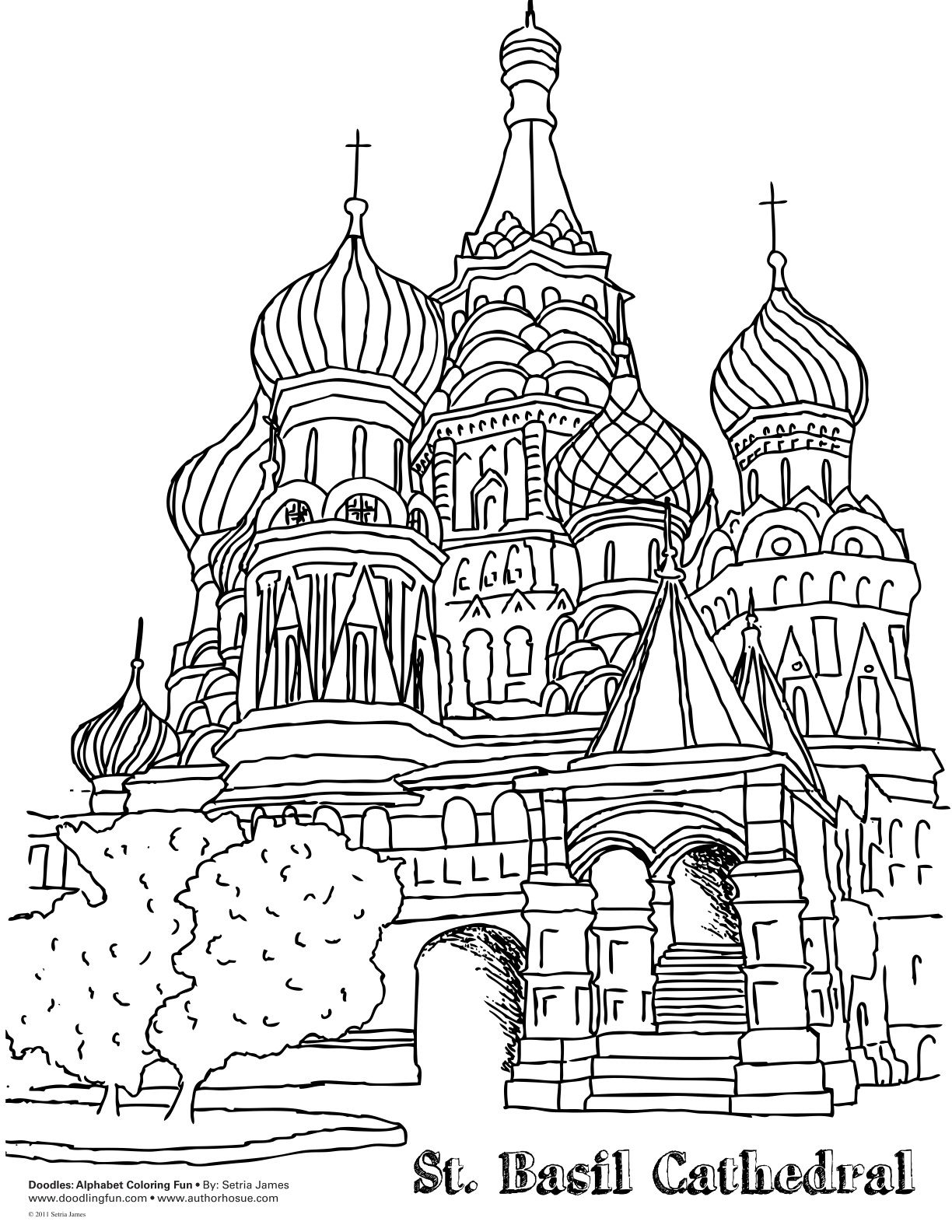 St Basil Coloring Page