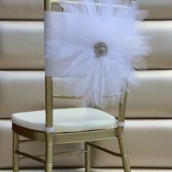 White Chair Sashes Where To Buy Covers Nz Tulle Flower Sash By Florarosa Design