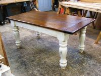 farmers tables for kitchen | Custom Oak Wood Farmhouse ...