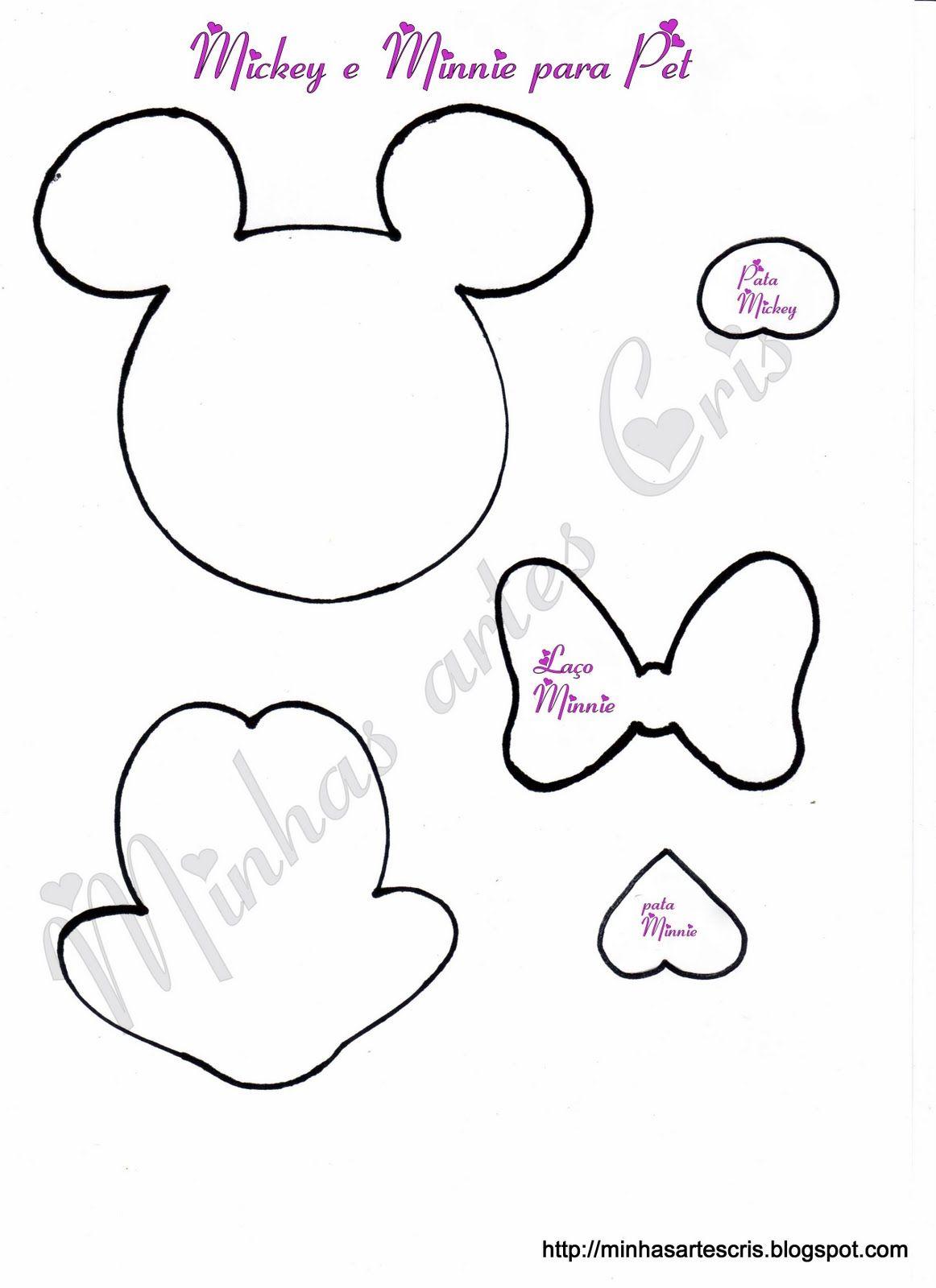 Mouse Fofuchas Imprimir Moldes De Para Minnie De
