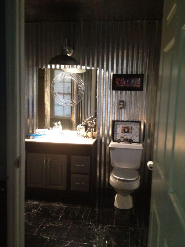 Corrugated Metal Bathroom Ideas