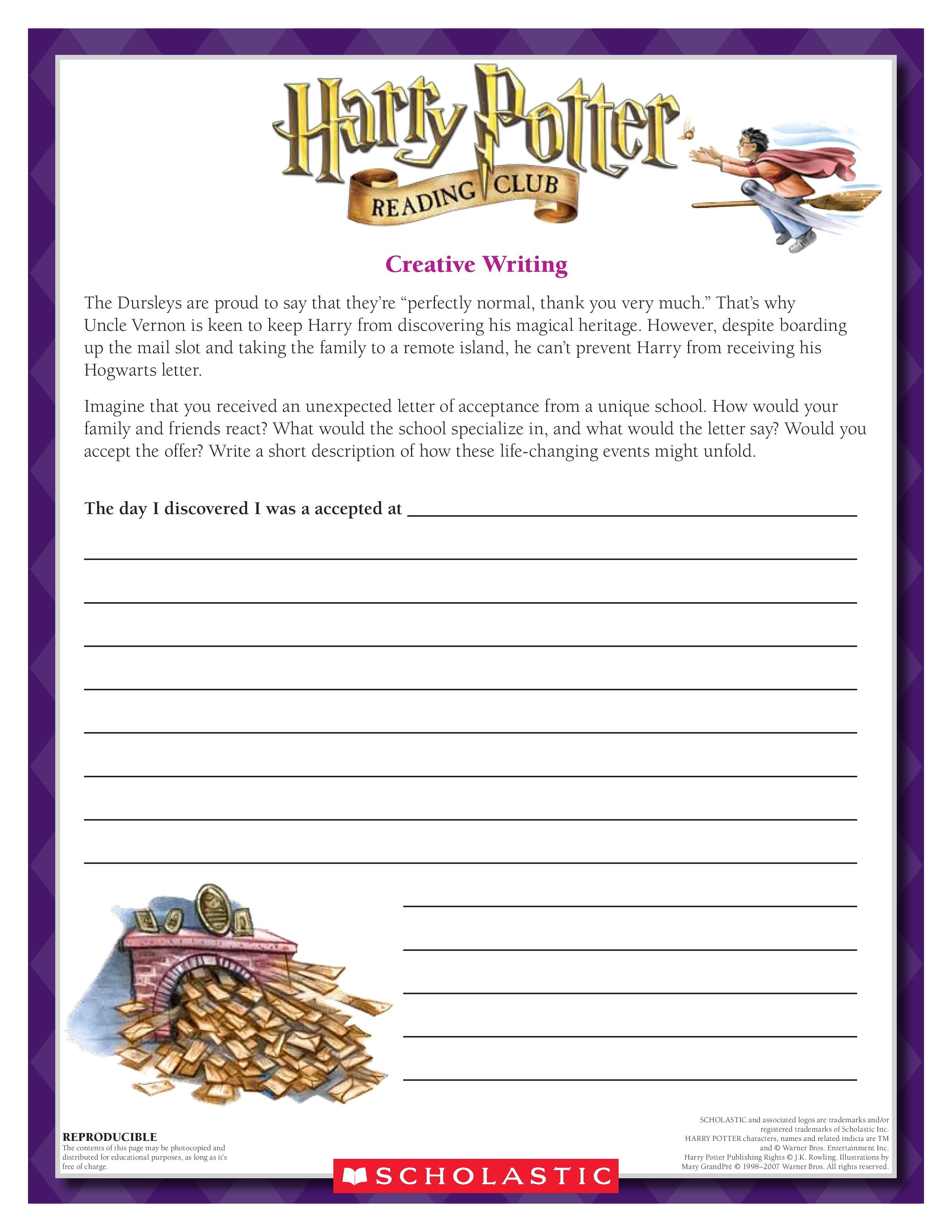 September Creative Writing Exercise Imagine You Have