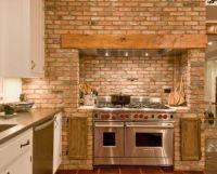 Kitchen , Rustic Kitchen Brick Wall : Rustic Kitchen Brick ...