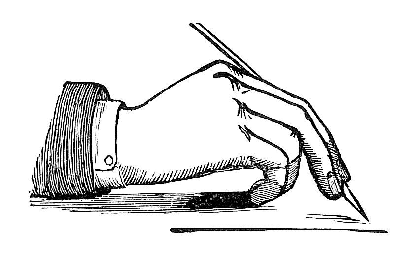 Antique Images: Victorian Writing Clip Art: Vintage Image