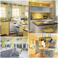 Yellow/Gray kitchen inspiration photos | Pearl Designs ...