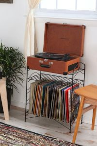 Vinyl Record Storage Shelf | Record storage, Storage ...