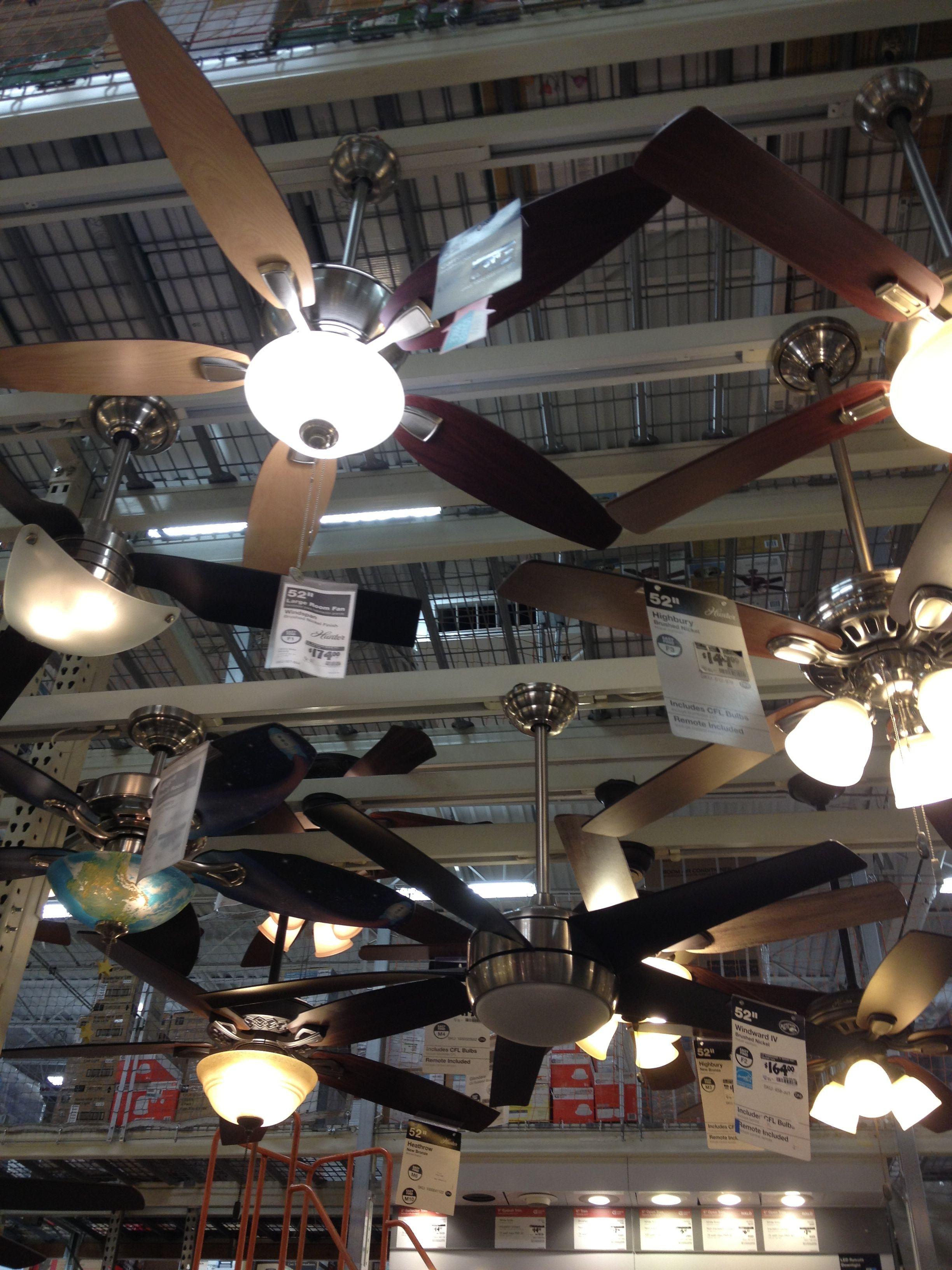 Ceiling fans (Home Depot)