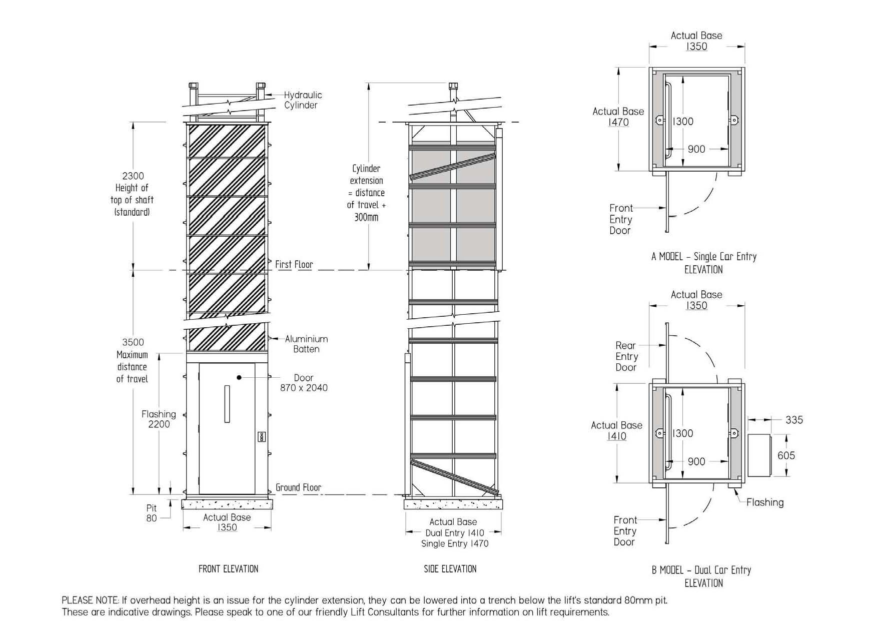 Hydraulic Elevators Suitable For Disabled Two Entrances