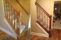 diy staircase | Before and after stair railings | shelter ...