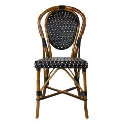French Rattan Bistro Chairs Black And Cream Dining Mediterranean Chair 235 Furniture