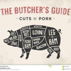 Vintage Lamb Butcher Diagram Wiring For Alternator With Internal Regulator Cut Of Meat Set Poster Scheme And Guide