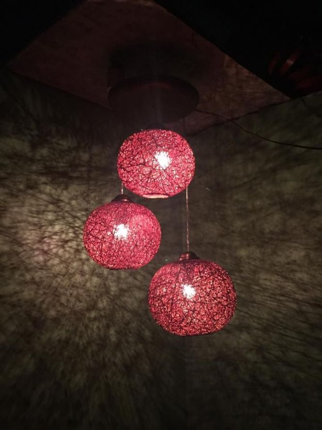 3 Light Abaca Chandelier For 1200 Pesos Only Complete Set With Bulbs Available In Diffe