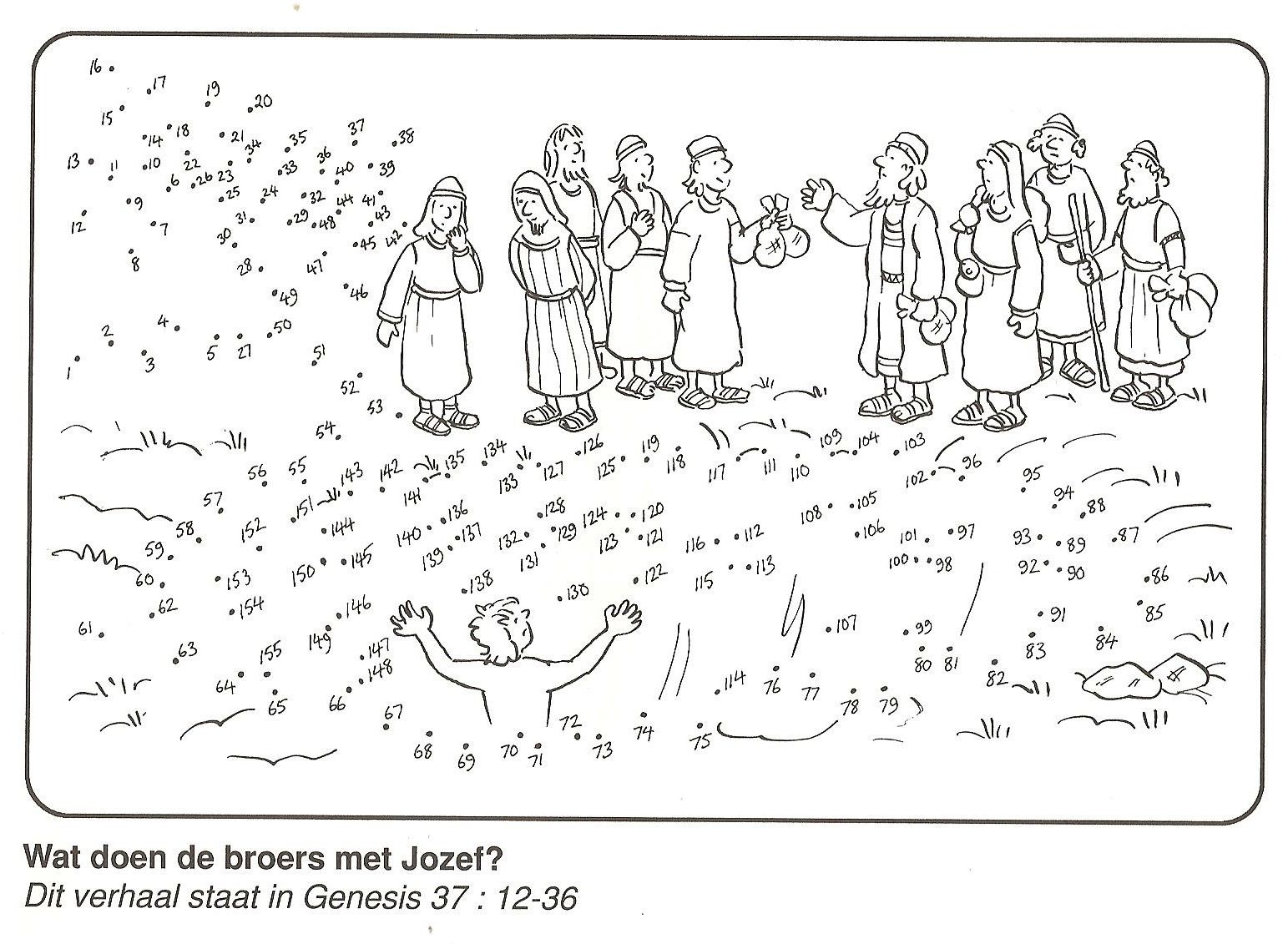 Joseph Thrown Into The Pit Genesis 37 Dot To Dot Printable Sunday School