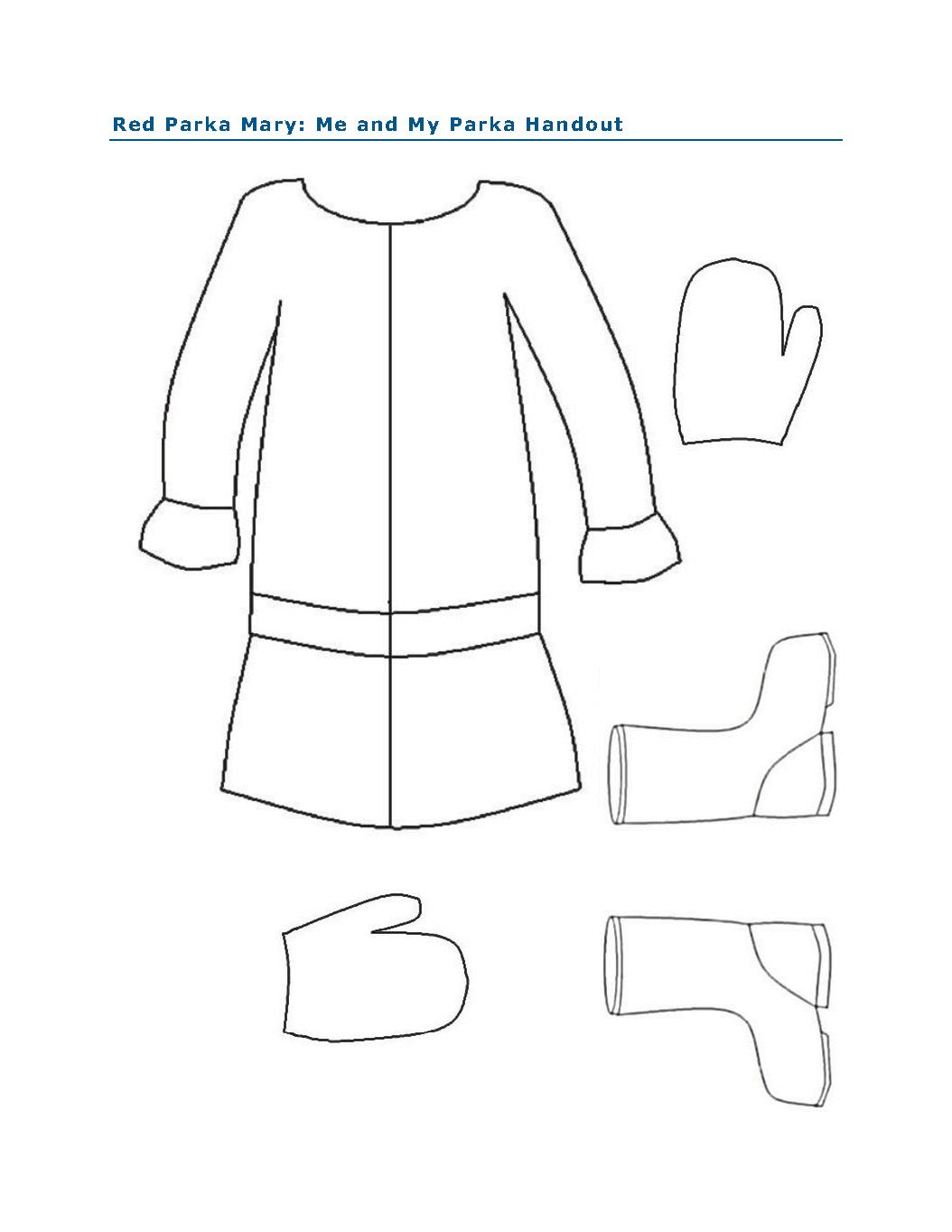 Me And My Parka Activity For Red Parka Mary By Peter