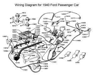 Wiring diagram for 1940 Ford   Wiring   Pinterest