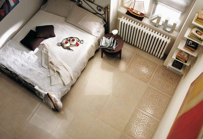 Cream White Bedroom Floor Tile Border Elements Of My Dream House