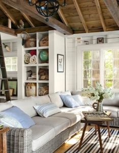 Lake house decorating ideas new hampshire cabin country living what room ceiling could look like if we stained it also beach houses pinterest rh