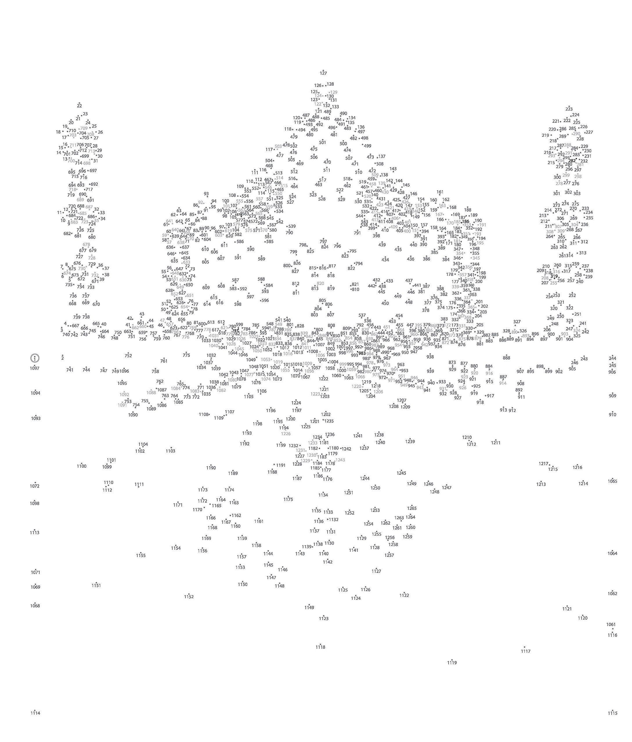 Hard Dot To Dot Coloring Page