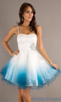 Short Prom Dresses With Straps - Formal Dresses
