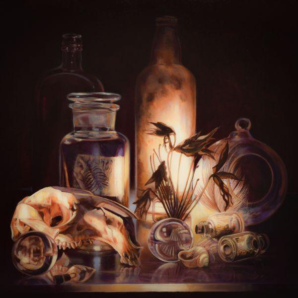 Gatya Kelly - Alchemy Apothecary 61x61cm Oil