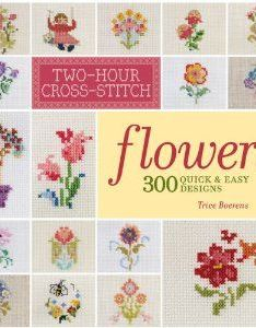 Cross stitch flowers quick  easy designs also textile project rh za pinterest