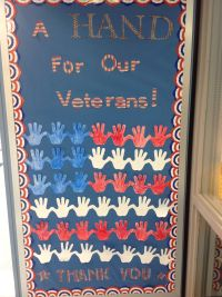 Veterans Day Bulletin Board - A Hand For Our Veterans ...
