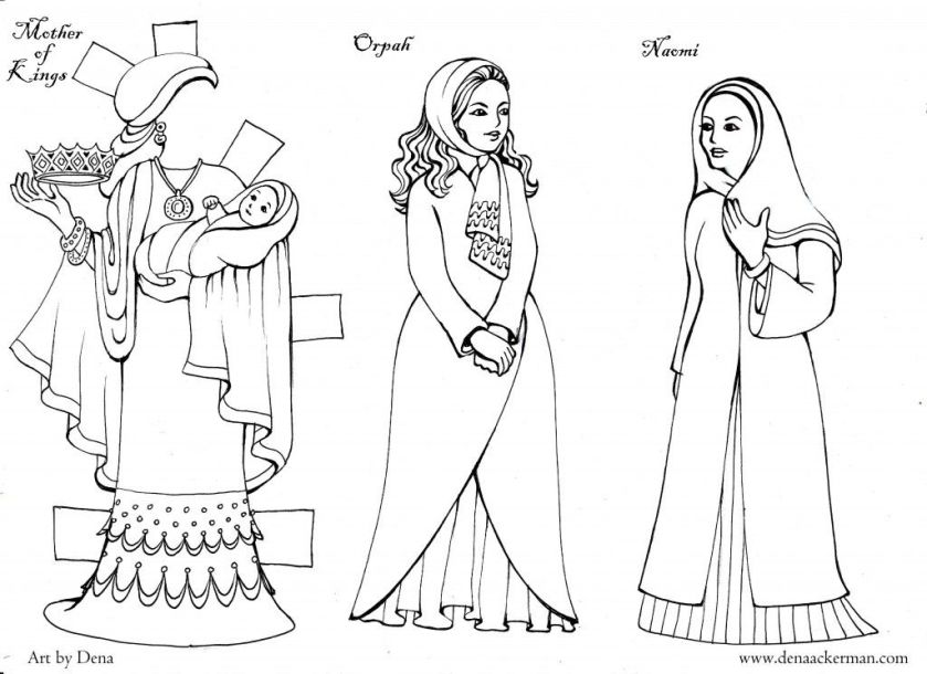 ruth naomi orpah coloring coloring pages