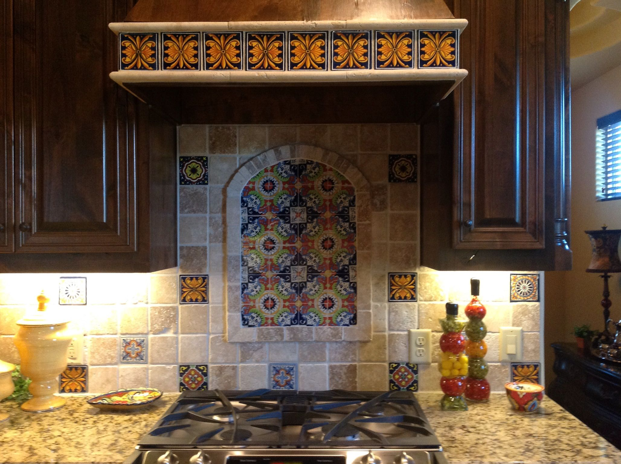 mexican backsplash tiles kitchen wood island talavera for the home pinterest kitchens