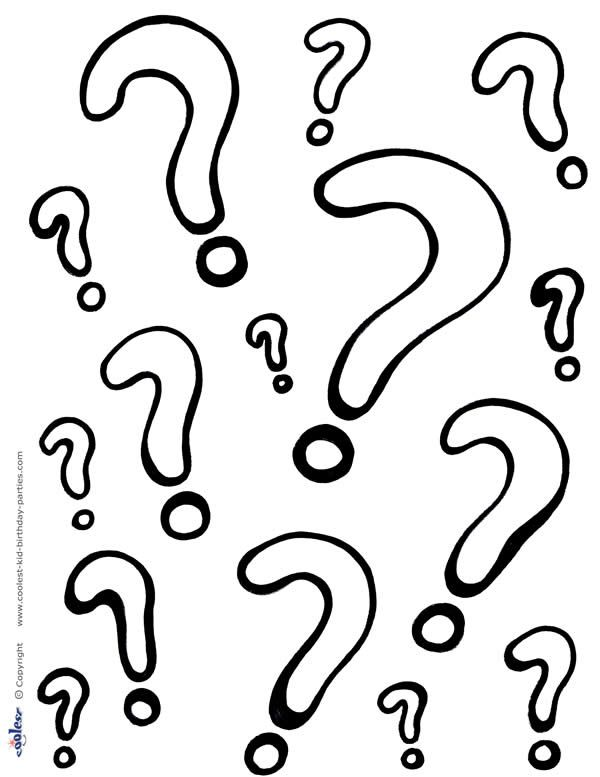 Printable Question Marks Coloring Page Coolest Free