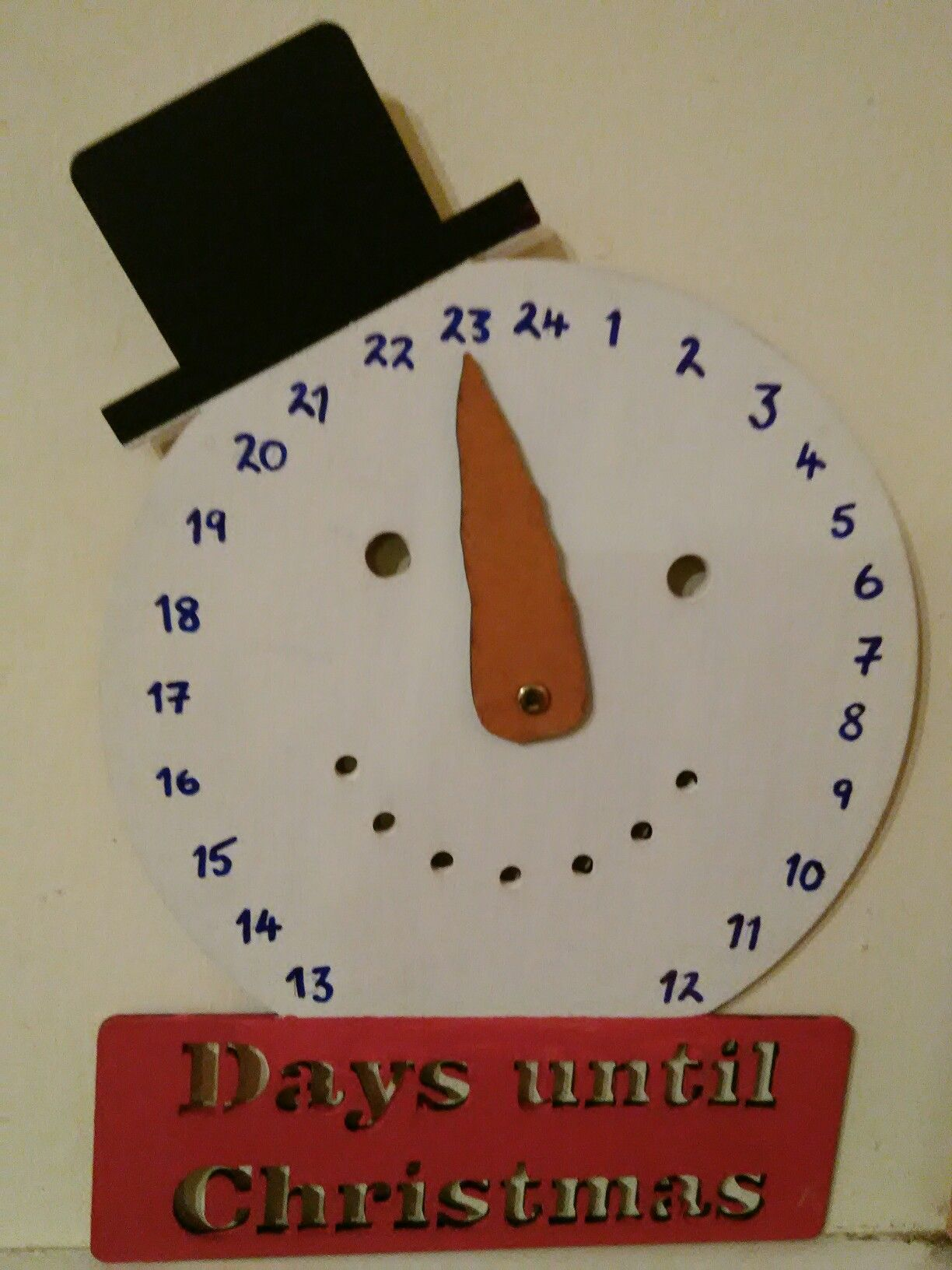 Christmas Countdown Clock - Template From Craft Fair