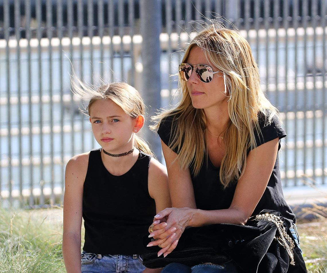 Heidi Klum Roter Teppich Supermodel Heidi Klum And Her Gorgeous 12 Year Old