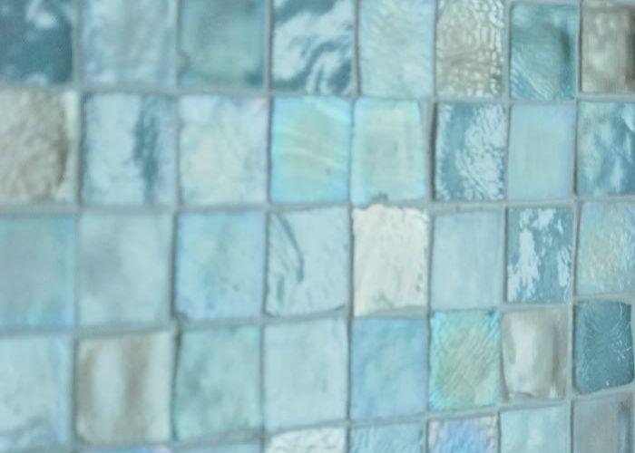 Sea glass tile aqua bathroomtile bathroomsbathroom also beach remembrances pinterest master