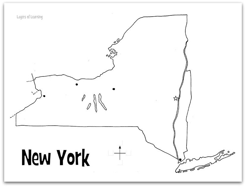 Printable New York Map. All the states are on this site