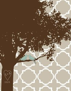 Wedding tree also vintage style french oiseaux bird chart decorative wrap and craft rh pinterest